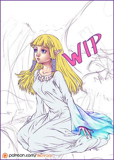 Skyward Sword Zelda - WIP by LiKovacs