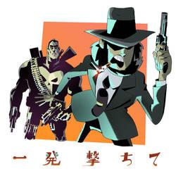 Jigen Daisuke and Punisher by AnthonyHolden