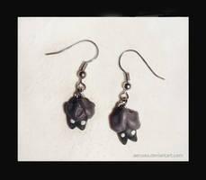 little bats earrings by Aerusss