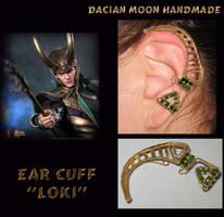 Ear cuff LOKI by NessaSilverwolf