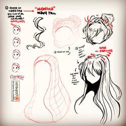 DOKI DOKI STYLED HAIR TIPS PATREON REWARD by Cipple