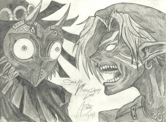 Fierce Deity Link Vs Skull Kid by AkumaSeinko