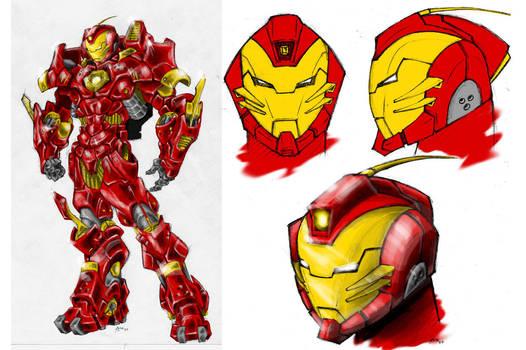 Iron man armor design colored by arktiari