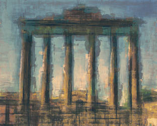 Sunset-Columns-100 by LC-Bailey-Art