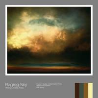 Raging Sky Print by LC-Bailey-Art