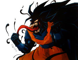 Symbiote Goku by MikeES