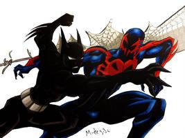 Batman Beyond Vs Spiderman 2099 by MikeES