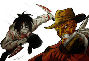 Jeff the Killer Vs Freddy Kreuger by MikeES