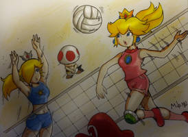 Princess Peach and Princess Rosalina by MikeES