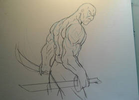 Drax the Destroyer Sketch by MikeES