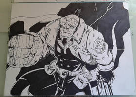 Hellboy Inks by MikeES