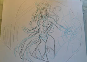 Starfire Sketch by MikeES