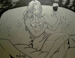 Inktober 2016 No. 15 Relax by MikeES