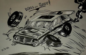 Inktober 2016 No. 30 Wrecks by MikeES
