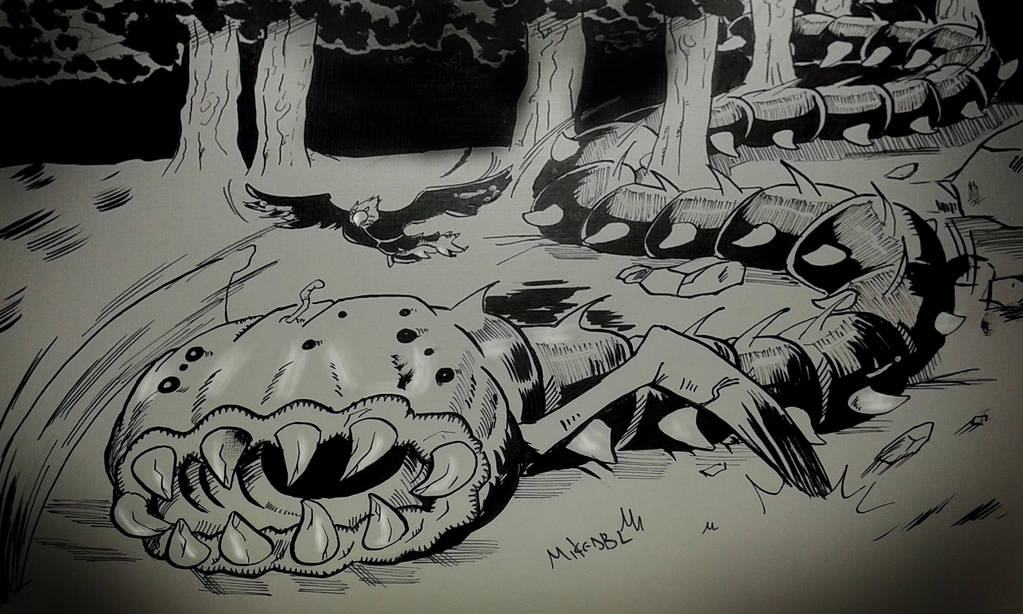 Inktober 2017 No.5 Long by MikeES