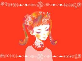 red doll by pinkumesu