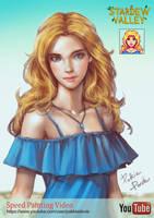 Fan Art: Haley (Stardew Valley) by pakkiedavie