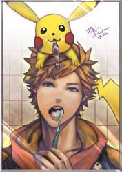 Pokemon Go - tooth-brushing time. by pakkiedavie