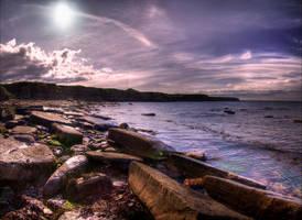 Colleywell Bay - Pano by Wayman