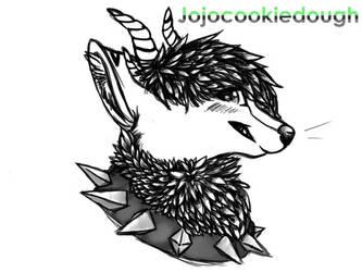 Jojocookiedough black and white by NeonWolfe