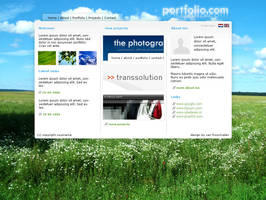 portfolio layout by rocksound101