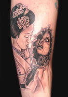 geisha demon by asussman