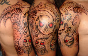 skulls and bio arm by asussman