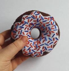 Felt Chocolate Doughnut with sprinkles! by prophet1991