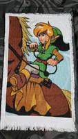 legend of Zelda Link and Epona Cross Stitch by prophet1991