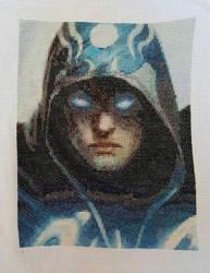Jace the Mind Sculptor Cross Stitch by prophet1991