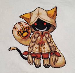 Taokaka - BlazBlue Cross Stitch by prophet1991