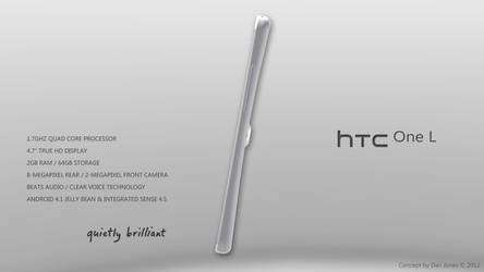 HTC One L Design Concept (Side) by DanielKeithJones