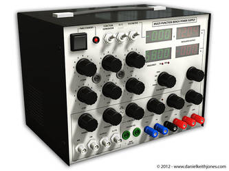 3D Concept: Multi-Function Bench Power Supply by DanielKeithJones