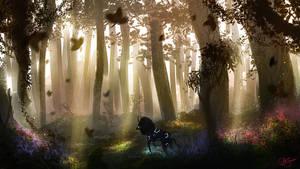 Golden Forest by AshStraker