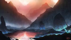 Cerulean Gorge by AshStraker