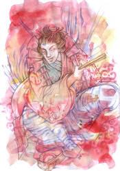 Nobunaga in Kabuki by daevakun