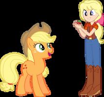 Applejack and Megan by DashieMLPFiM