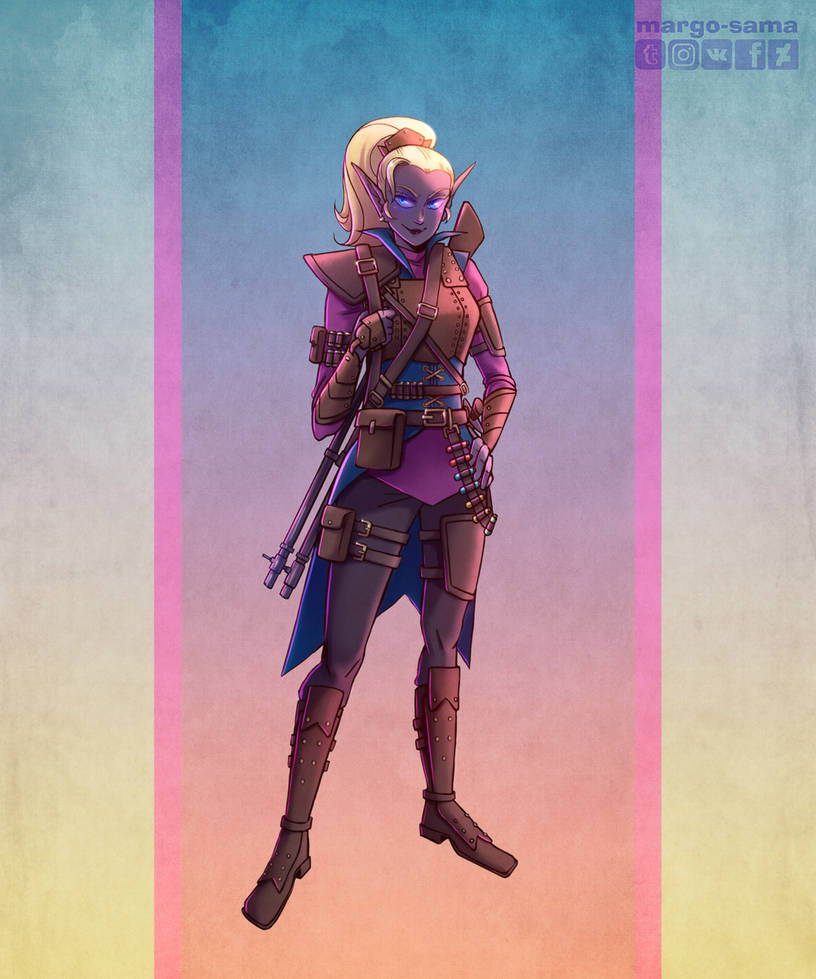 Commissiondnd Dark Elf Artificer Gunsmith By Margo Sama On Deviantart