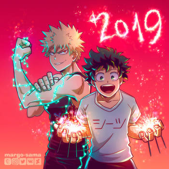 [BNHA] Happy 2019! by Margo-sama