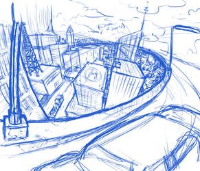 Cityscape Practice by KingofLions