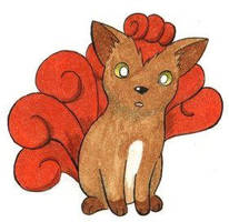 Vulpix by ShrubSparrow