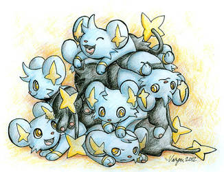 Pile of Shinx by ShrubSparrow
