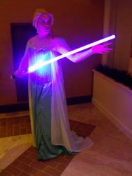 Elsa with a lightsaber by sakuraknight2000