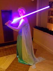 Elsa with a lightsaber-2 by sakuraknight2000