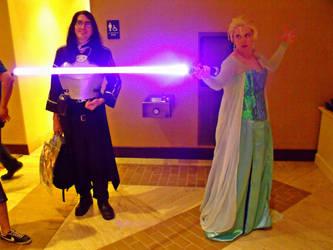 Elsa with a lightsaber-3 by sakuraknight2000
