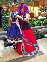 Alice and the Queen of Hearts by sakuraknight2000