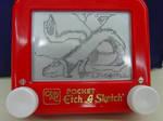Mini Etch-a-sketch Dragon by Dreamscape195