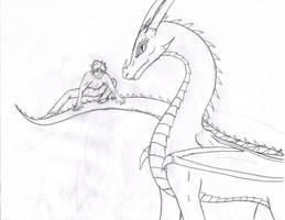 Erm..... Dragon and guy.... by Dreamscape195