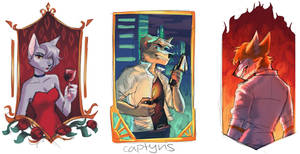 Portrait Thumbs 1-3 by captyns