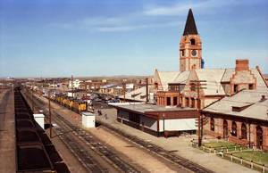UP Cheyenne Depot, 5-7-89 by eyepilot13